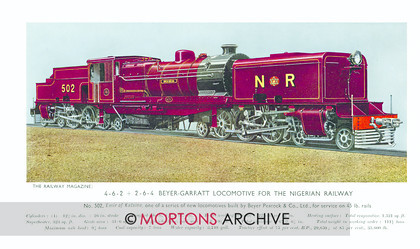 SUP - 1936 Oct 4-6-2 + 2-6-4 Nigerian Railway 502 