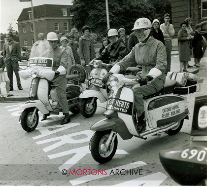 """Image 58   Hazel Holland, secretary of the Ace of Herts Lambretta Club, sets out on a """"how-many-countries, how-many-miles?"""" 24 hour run   Keywords: Mortons Archive, Mortons Media Group, Scooters"""