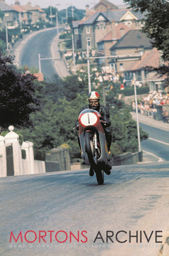 'Ago's leap' one of the most famous Agostini images. 1970 Isle of Man Senior TT(500cc MV3).